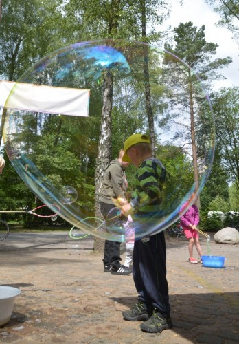Spass mit Riesenseifenblasen